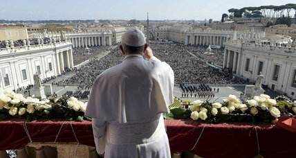 Pope Francis condemns terrorism in Easter speech
