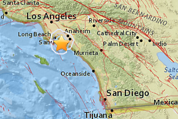 a magnitude 3 1 earthquake struck 3 miles west south west of huntington beach calif early monday morning