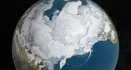As temperatures set a high record, Arctic sea ice sets a low one (+video)