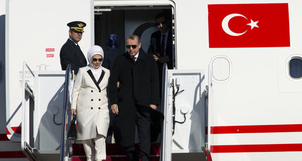 In Washington, Turkey's president is angling for a close-up