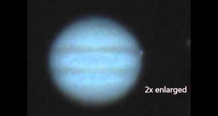 Jupiter got hit with a big rock earlier this month
