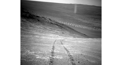 NASA's Opportunity rover captures image of Martian dust devil
