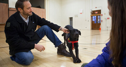In one Colorado prison, convicts save dogs, veterans – and themselves