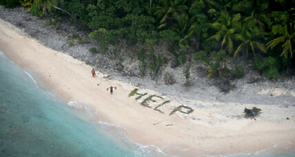 Castaways spell 'help' with palm branches: A Pacific rescue tale