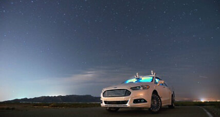 How this Ford Fusion navigates the dark without driver – or headlights