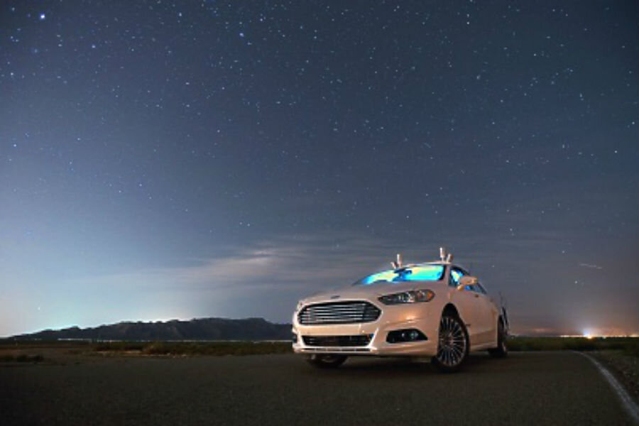 Ford intends to launch affordable, electric, driverless cars nine years from now. Image Source: CS Monitor