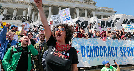 Hundreds arrested at US Capitol at 'Democracy Spring' protests
