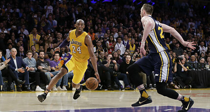 In a shower of purple and gold, Kobe Bryant has left the court