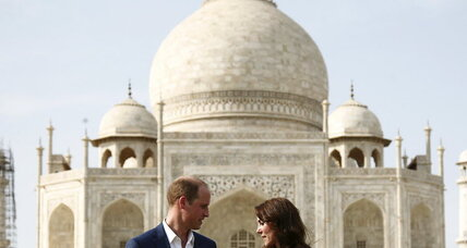 William and Kate retrace Diana's steps to Taj Mahal