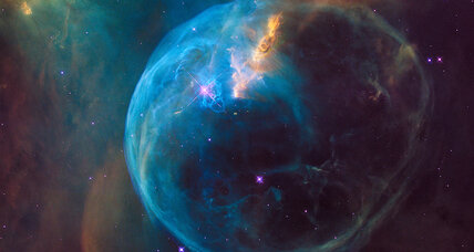 Hubble captures a stellar blue 'Bubble' photo for its birthday