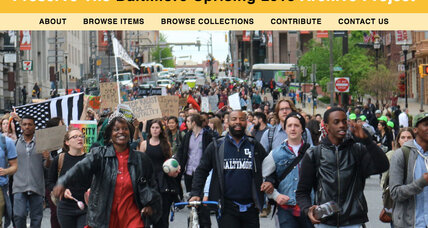 Digital archive of Freddie Gray protests gives Baltimoreans a voice in history