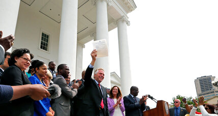 Why Virginia is giving voting rights back to ex-felons