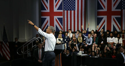 Obama tells British youth: Stay engaged, diplomacy trumps force