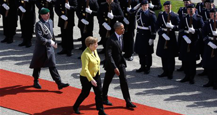 On German visit, Obama to push trans-Atlantic trade deal