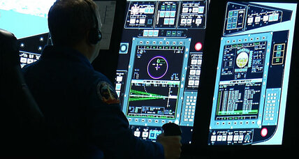 NASA astronauts take Boeing shuttle simulator for test drive