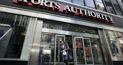 Why has Sports Authority fallen on tough times?