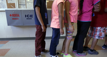 Are child immigrants being held in 'prison facilities'?