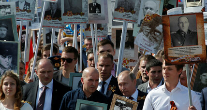 At Russia's Victory Day, a brighter spotlight on USSR's 'immortal regiment'