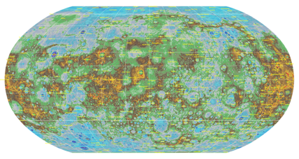 Amazingly detailed topographical map adds textured view of Mercury