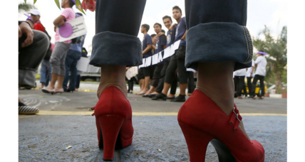 London woman, fired for not wearing high heels, takes her case to Parliament