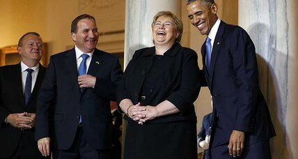 Obama welcomes Scandinavian leaders to Nordic Summit