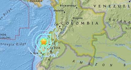 Ecuador shaken by magnitude 6.7 earthquake