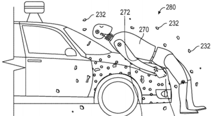 Human flypaper? Google's solution to collisions between cars and pedestrians