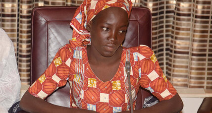 First Chibok girl to escape Boko Haram is feted in Nigeria