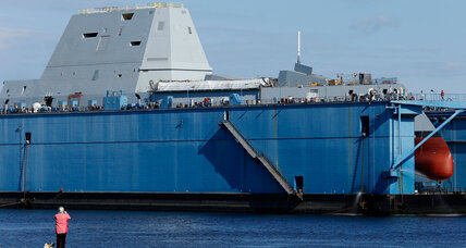 Capt. Kirk takes helm of US Navy's futuristic ship (+video)
