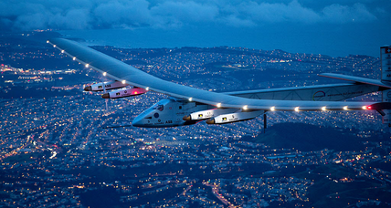 Solar-powered plane lands in the hometown of the Wright Brothers