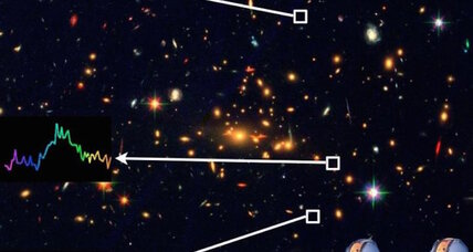 Faint, distant galaxy offers clues of a universe 'dark age'