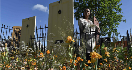 At London flower show, one garden aims to raise awareness about modern slavery