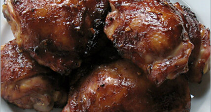 Hoisin chicken thighs, grilled or roasted