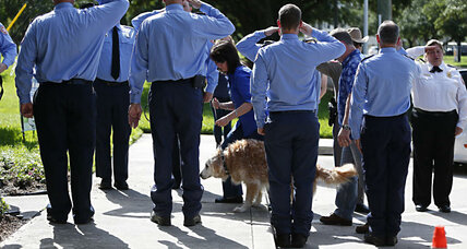 America says goodbye to Bretagne, the last 9/11 search and rescue dog