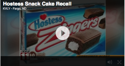 Hostess recalls 700K cases of cake products over peanut residue