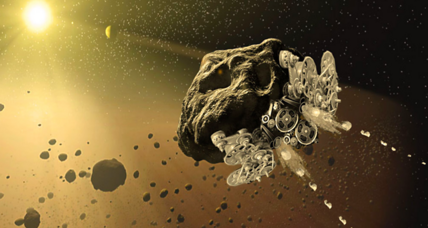 Can asteroids be turned into self-driving spaceships?