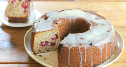 Honey raspberry Bundt cake