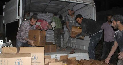 After four years of siege, food aid reaches Damascus suburb