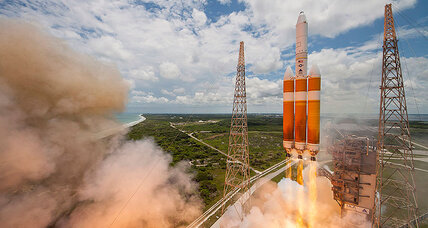 World's most powerful rocket launches US spy satellite into orbit