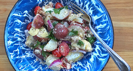Tuna artichoke potato salad