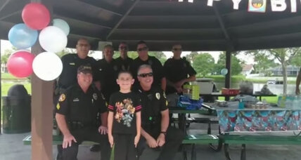 Florida police turn a sad party into the best day ever for an 8-year-old boy