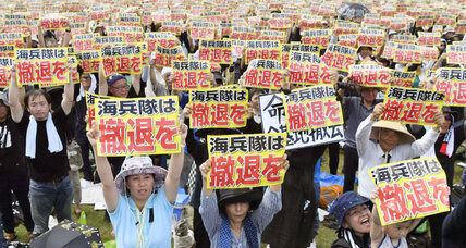 What's driving the huge anti-US military protests in Japan?