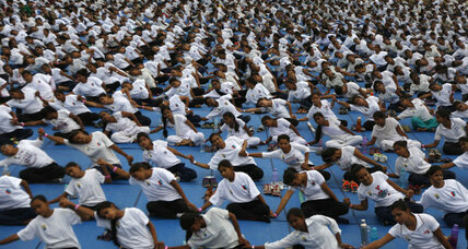 Why is the United Nations promoting yoga?