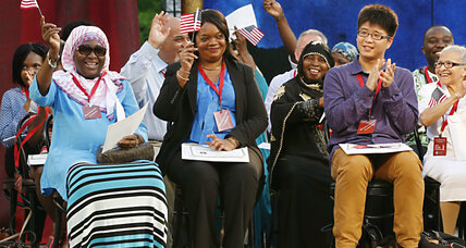 For newest US citizens, America is about hope, not fear