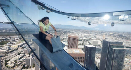 Hoping to lure tourists, Los Angeles skyscraper installs a slide