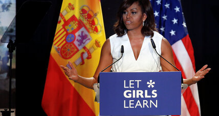 Michelle Obama in Spain: The 'girl-power unit' tackles education equality