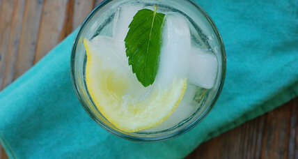 Lemon balm simple sryup for summer spritzers