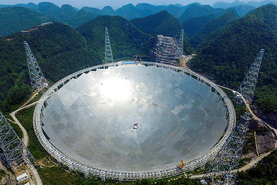 China just unveiled the biggest alien-hunting telescope in the world