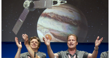 540 million miles later, cheers as Juno slips into Jupiter's orbit