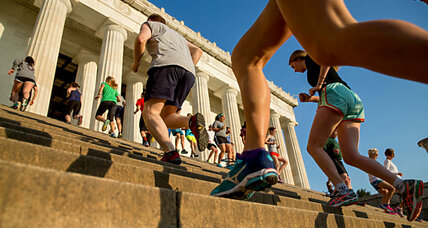 Why workout clubs gather at national landmarks